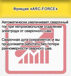 Функция «ARC-FORCE»